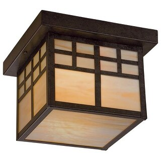 The Great Outdoors GO 8609-PL 1 Light Flush Mount Ceiling Fixture from the Scottsdale II Collection