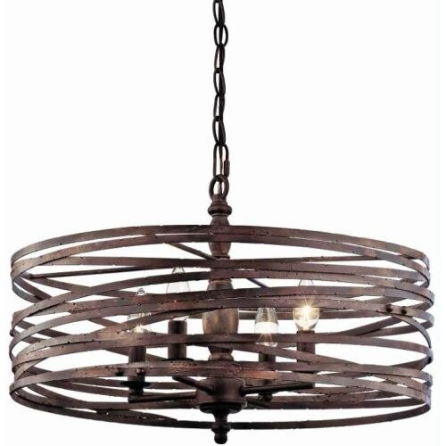 "Miseno MLIT143977RT Annata 4-Light Chandelier with 72"" Adjustable Chain"