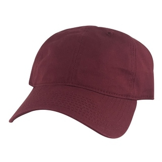 205 Unstructured Cotton Curve Visor Adjustable Strapback Dad Cap Hat - Burgundy