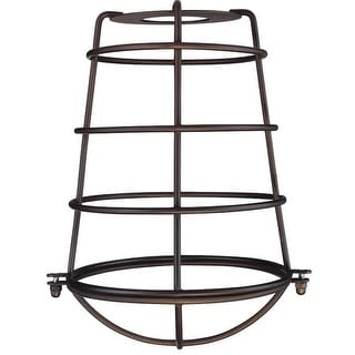 Westinghouse 85033 Cylindrical Metal Cage Shade, Oil rubbed bronze finish