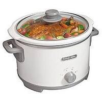 Proctor 33042 WHT 4 Quart Slow Cooker pack of 2