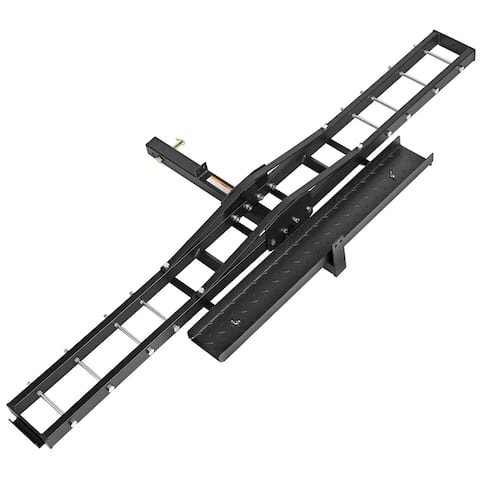 Steel Motorcycle Carrier - Scooter, Dirt Bike Hitch Mount Rack Ramp