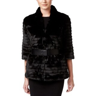 Calvin Klein Womens Coat Belted Open - S