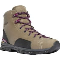 "Danner Women's Stronghold 5"" Non-Metallic Toe Work Boot Gray Full Grain Leather"