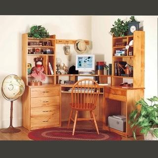 Office Desk Unfinished Solid Pine Printer Stand 1 Drawer | Renovator's Supply