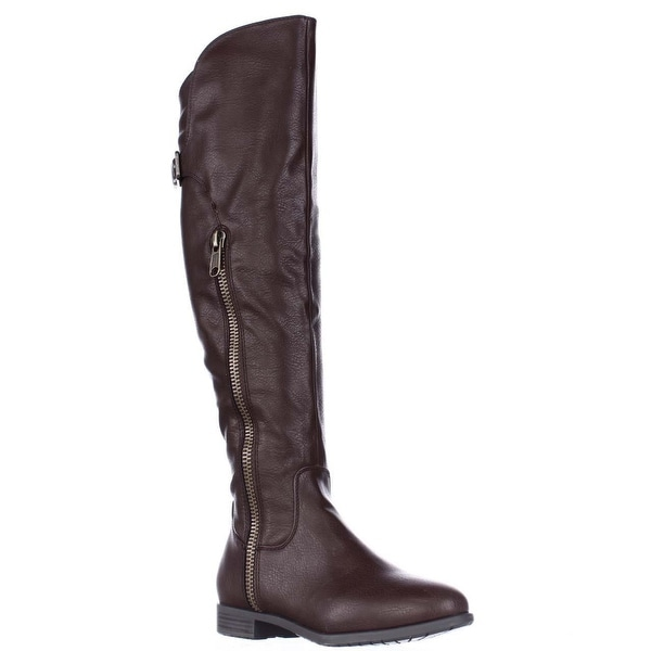 Rialto Firstrow Over The Knee Boots, Mocha