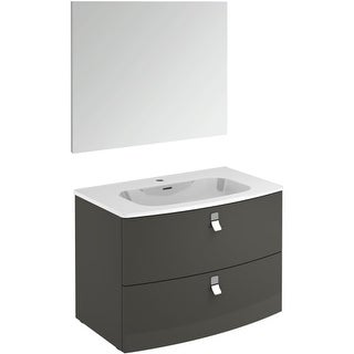 """WS Bath Collections Rondo 80 Pack 1 Rondo 32"""" Single Vanity Set with Engineered"""