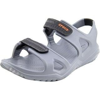 Crocs Swiftwater River Sandal Men  Open-Toe Synthetic Gray Slingback Sandal