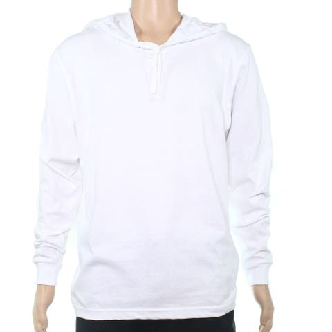 American Apparel Mens Hoodie White Size XL Pullover Box Jersey Knit