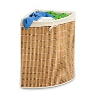Honey Can Do HMP-01618 Bamboo Wicker Corner Hamper
