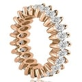 2.88 cttw. 14K Rose Gold Marquise Diamond Eternity Ring - Thumbnail 2