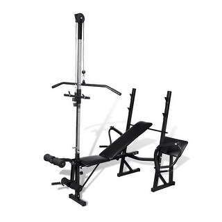 vidaXL Fitness Workout Bench for Home Gym - Black