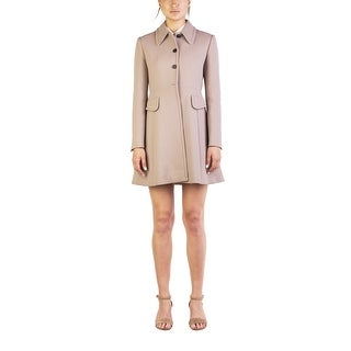 Miu Miu Women's Virgin Wool Four-Button Trench Coat Brown