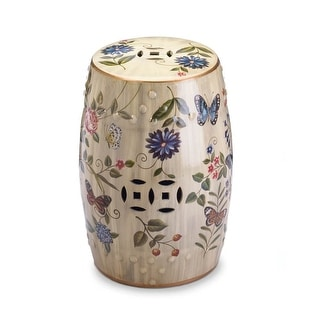 Ceramic Garden Stool White 14505598 Overstock Com