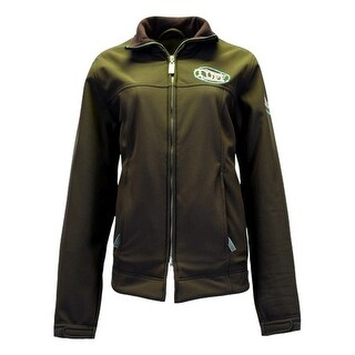 Cowgirl Tuff Western Jacket Women Microfiber Logo Pockets Brown 100074