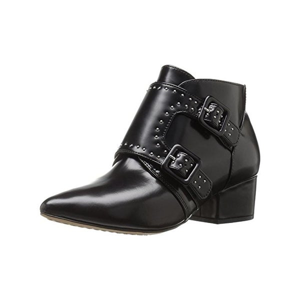 French Connection Womens Roree Booties Leather Studded