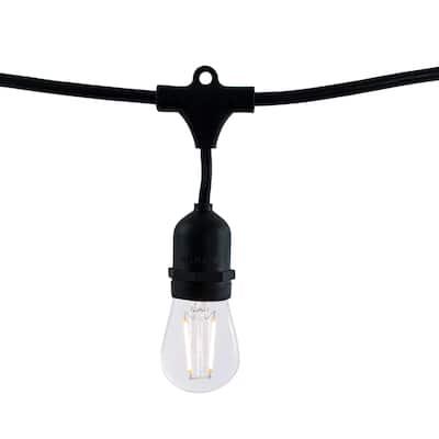 Bulbrite 48 ft, 15-Socket (E26) Decorative String Light Kit, Black