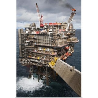 """""""North Sea oil and gas platform"""" Poster Print"""