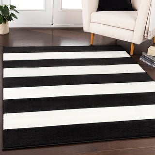 Link to Porch & Den Capp St Woven Casual Striped Area Rug Similar Items in Casual Rugs