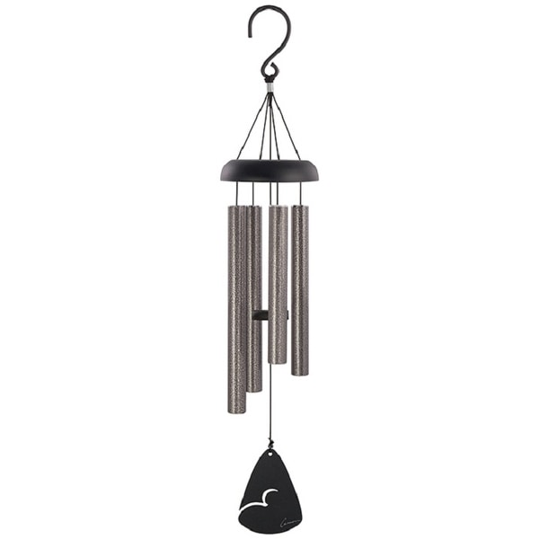 """21"""" Silver and Black Signature Series Aluminum Wind Chime - N/A"""