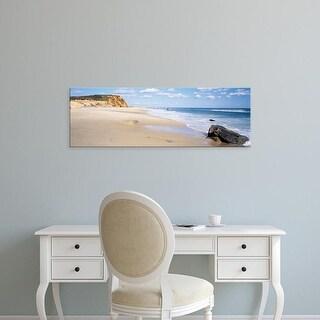 Easy Art Prints Panoramic Image 'Rocks, Lucy Vincent Beach, Chilmark, Martha's Vineyard, Massachusetts' Canvas Art