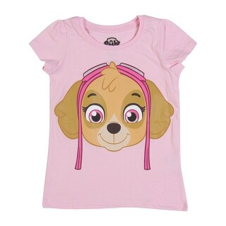 Paw Patrol Toddler Girls' Short Sleeve Tee Shirt, Pink Skye