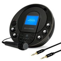 "Electrohome EAKAR535 Portable Karaoke CD+G/MP3G Player Speaker System with 3.5"" Screen & Bonus 3.5mm Aux Stereo Cable"