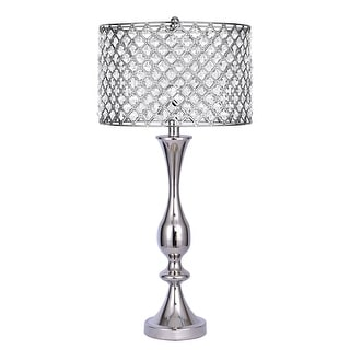 Silver Orchid 27.5-inch Table Lamp w/ Crystal Bling Shade