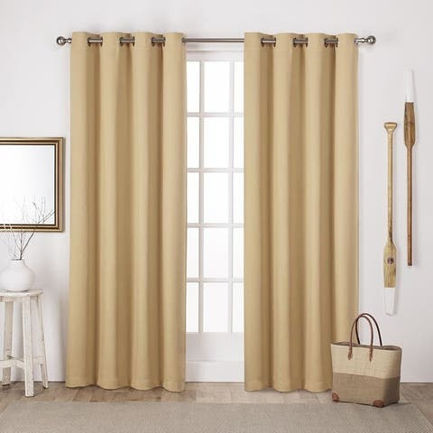 Porch & Den Boosalis Sateen Twill Blackout Curtain Panel Pair