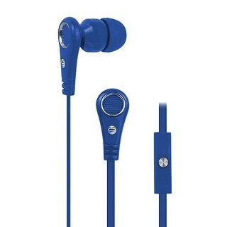 """""""AT&T Stereo Earbuds with Microphone (Single Pack) Stereo Earbuds with Microphone"""""""