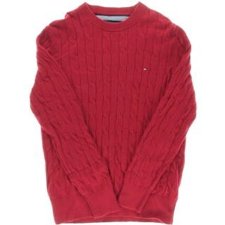 Tommy Hilfiger Mens Cable Knit Long Sleeves Pullover Sweater