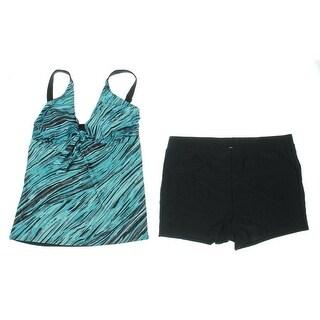 Attraco Womens 2PC Printed Tankini Swimsuit - 16