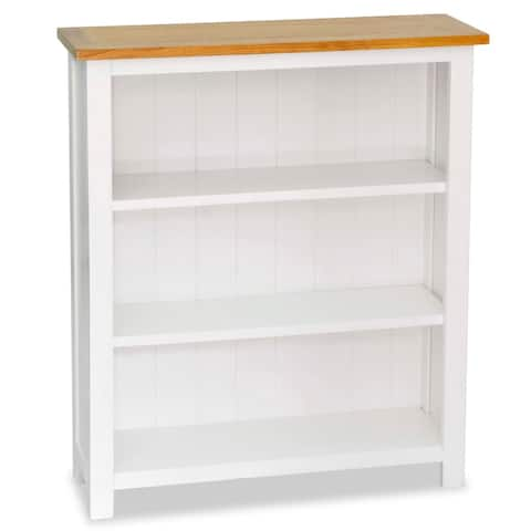 "vidaXL 3-Tier Bookcase 28.3""x8.9""x32.3"" Solid Oak Wood"