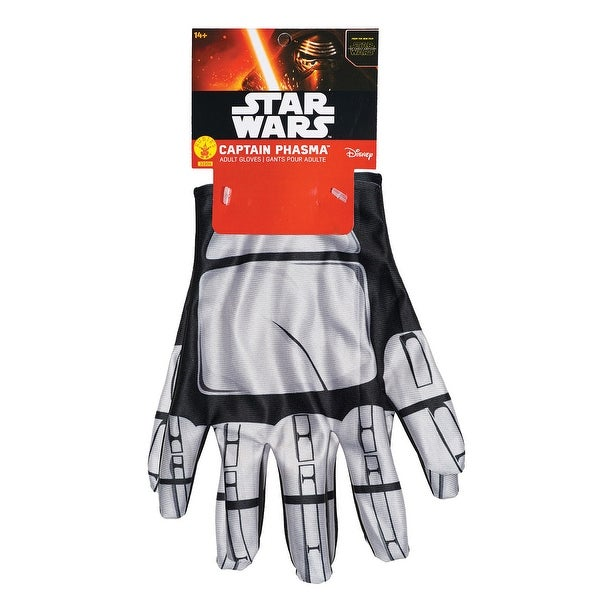 Star Wars The Force Awakens Adult Costume Accessory Captain Phasma Gloves - Silver