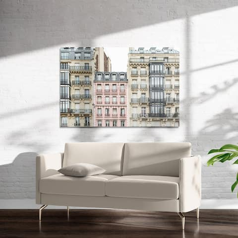 THE PINK APARTMENT BUILDING, PARIS Art on Acrylic by Kavka Designs