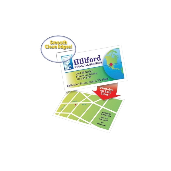 Shop Avery Two Side Printable Premium Clean Edge Business Cards For