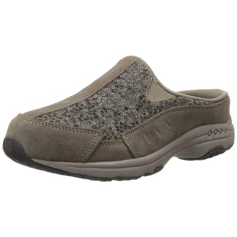 Easy Spirit Womens Travelwool Closed Toe Mules