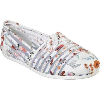 Skechers Women's BOBS Plush Daisy Darling Alpargata White/Multi