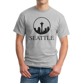 Tee Bangers Seattle Space Needle Tower Men's Grey T-shirt
