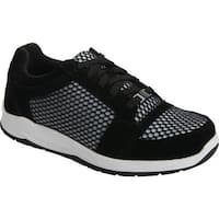 Drew Women's Gemini Walking Shoe Black Suede/Mesh