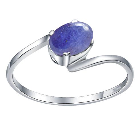 Topaz,Citrine,Moonstone,Tanzanite,Amethyst Sterling Silver Solitaire Ring