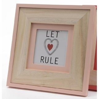 """8.5"""" Basic Luxury Tabletop Picture Frame with Peach Pearl Accents"""