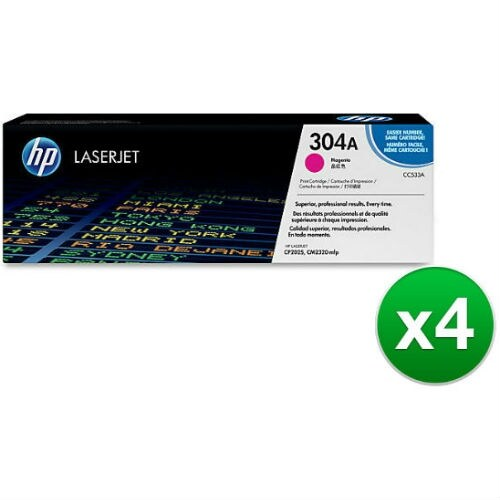 HP 304A Magenta Contract Ink Cartridge (CC533AG)(4-Pack)