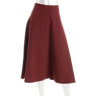 DKNY Womens Midi Polyester A-Line Skirt - 10P
