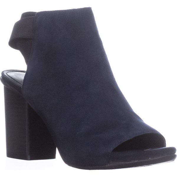 Kenneth Cole REACTION Fridah Fly Peep Toe Ankle Booties, Navy - 5.5 us / 35.5 eu
