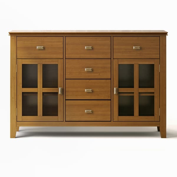 Wyndenhall Stratford Solid Wood 54 Inch Wide Contemporary Sideboard Buffet Credenza 54 Inch Wide 54 Inch Wide Overstock 10566211