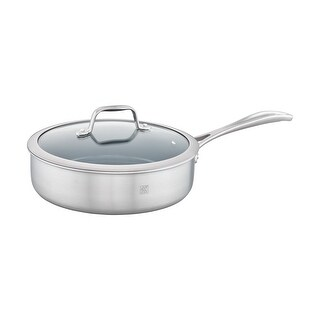 ZWILLING Spirit 3-ply Stainless Steel Ceramic Nonstick Saute Pan - STAINLESS STEEL