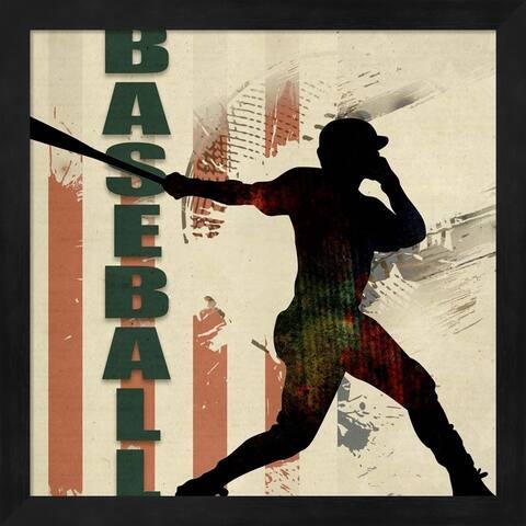 LightBoxJournal 'Baseball Urban Art' Framed Art