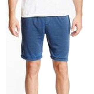 Threads 4 Thought NEW Blue Mens Large L Burn Out French Terry Shorts