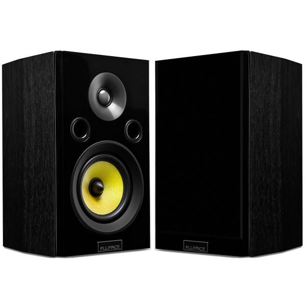 Fluance Signature Series HiFi Two-way Bookshelf Surround Sound Speakers for Home Theater and Music Systems (HFS)